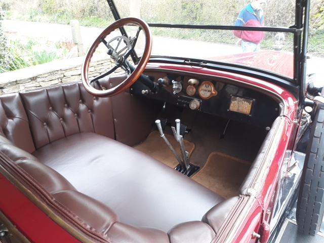 Dashboard and front seat